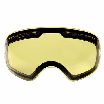 Double Brightening Lens Ski Goggles Night Of Model Number GOG-201 for Weak Light Tint Weather Ction With Other Glasses