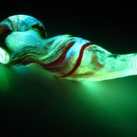 Glowing Glass Pipe A17 | thegoodtimesglass - Accessories on ArtFire