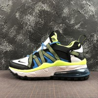 Nike Air Max 270 Bowfin White Green Blue Sport Running Shoes - Best Online Sale