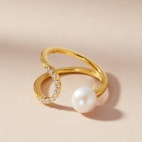Eclipse Pearl Wrapped Ring