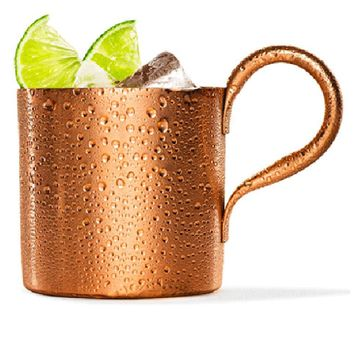 300ML/500ML Copper plated Stainless Steel Moscow Mule Mug Drum-Type Beer Cup Coffe Cup Water Glass Drinkware