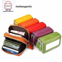 Hot-sale RFID Antimagnetic Genuine Leather 11 Colors 11 Card Slots Card Holder Purse - NewChic Mobile