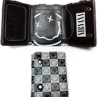 Nirvana Black & White Smile Wallet