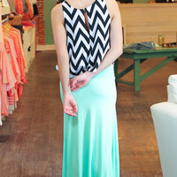 Beautifully Basic Maxi Skirt - Mint