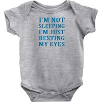 funny dads Baby Onesuit