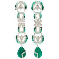 One-Of-A-Kind Diamond And Emerald Drop Earrings | Moda Operandi
