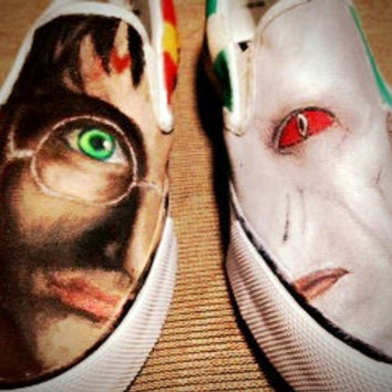Harry Potter V.S. Voldemort Custom Shoes