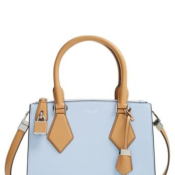 Women's Michael Kors 'Small Casey' Leather Satchel - Blue