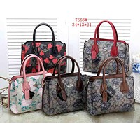 COACH 2019 new women's large-capacity wild personality handbag messenger bag three-piece