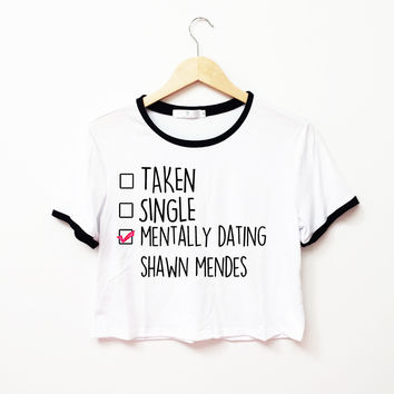 Mentally Dating Shawn Mendes Ringer Tee