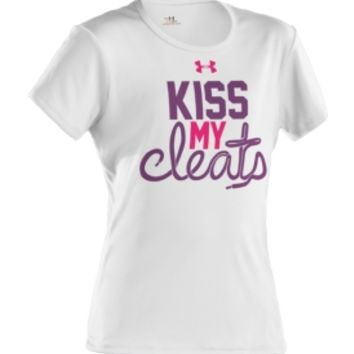 Under Armour Girls' Kiss My Cleats Graphic T-Shirt - Dick's Sporting Goods