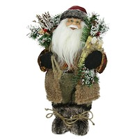 "12"" Country Rustic Standing Santa Claus Christmas Figure"