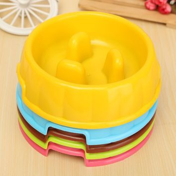 5 colors to choose pet dogs and cats feeding bowl water dog feed food pet bowl thick fine