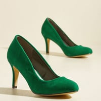 Cheers to New Beginnings Velvet Heel | Mod Retro Vintage Heels | ModCloth.com