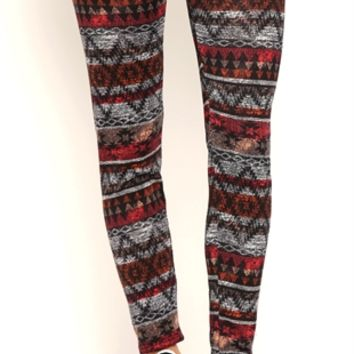 Vintage Tribal Print Leggings