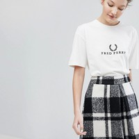 Fred Perry Wreath Logo T Shirt at asos.com
