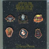 Disney Pin Trading Star Wars The Force Awakens Set of 6