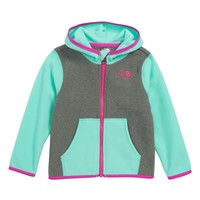 The North Face Glacier Full Zip Hoodie (Baby Girls) | Nordstrom