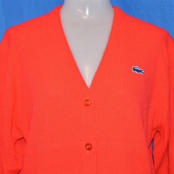 60s Haymaker Lacoste Red Cardigan Sweater Womens 40