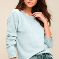 Nanette Light Blue Knit Sweater