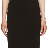 Black Knit Panelled Dress