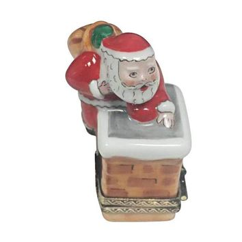 Santa on Chimney Roof