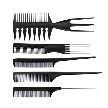 Hair Salo Hair Combs Barber Comb Brushes Anti-static Hairbrush Hair Care Styling Tools Set Kit 10pcs