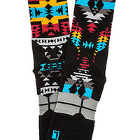 The Santa Fe Fusion Basketball Socks in Black