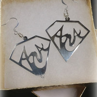 Personalized Handmade Earrings Silver Handcrafted Custom Statement Name Jewelry