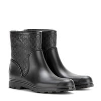 gucci - leather and rubber short wellington boots