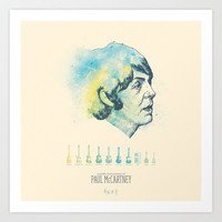 Charting the Beatles - Paul McCartney Art Print by Oliver Oliver Oliver