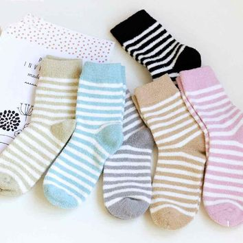 Women's Stripe Fleece Socks