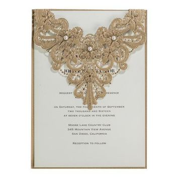 100pcs Wedding Invitations Laser Cut with Pearl Flowers Birthday Party Invitation Card for Wedding Supplies casamento CW5239