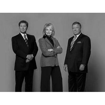 Boston Legal poster Metal Sign Wall Art 8in x 12in Black and White