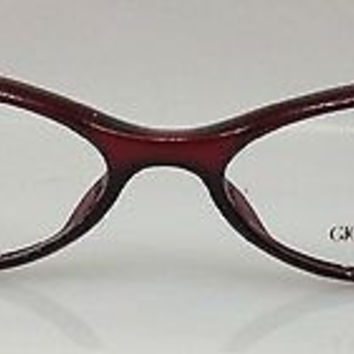 NEW AUTHENTIC GIORGIO ARMANI GA 344 COL ARH RED PLASTIC EYEGLASSES FRAME 50MM O