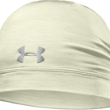 Womens Under Armour ColdGear Infrared Cozy Beanie, Tusk/Silver/Open White, One Size