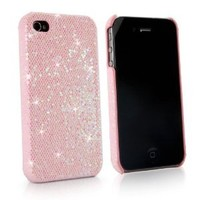 BoxWave Glamour & Glitz iPhone 4 Case - Slim Snap-On Glitter Case, Fun Colorful Sparkle Case for your iPhone 4! - iPhone 4 Cases and Covers (Princess Pink)