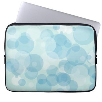 Blue Bubbles Laptop Sleeve