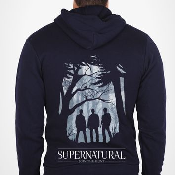 Hoodie - 'Shadows - Join the Hunt' | Supernatural Design Challenge