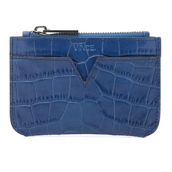 Croc Embossed Coin Pouch