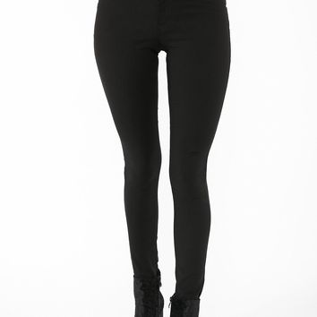 High Rise Lace-Up Skinny Pant