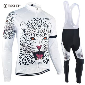 BXIO Cycling Jersey Sets Original Design Tiger Printed Sportswear Winter Pro Road Bike Clothing Maillot De Ciclismo BX-0109W-034