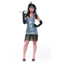 Coquette Womens Flapper Halloween Party Dress Costume