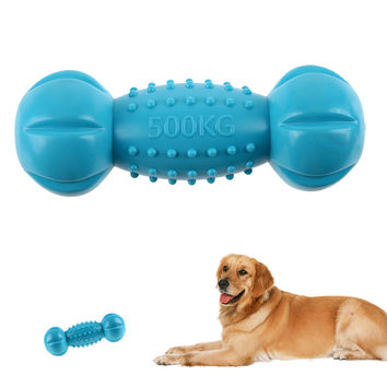 Dumbbell Squeaky Toy Dog Supplies