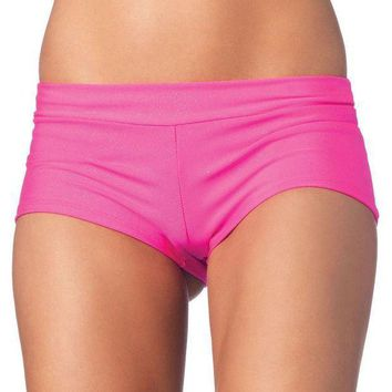 MDIGH3W Spandex boy shorts short. in PINK