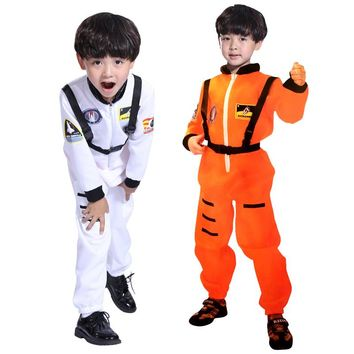 Free Halloween Costume boys clothing astronaut astronaut clothes dance mask cosplay suit pilots