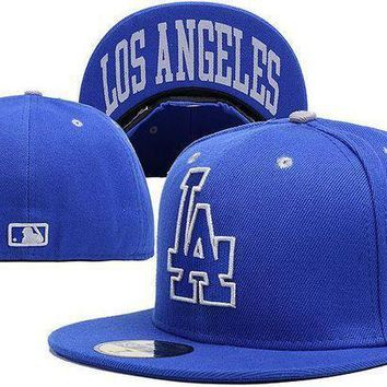 Los Angeles Dodgers New Era Mlb Authentic Collection 59fifty Cap Blue La