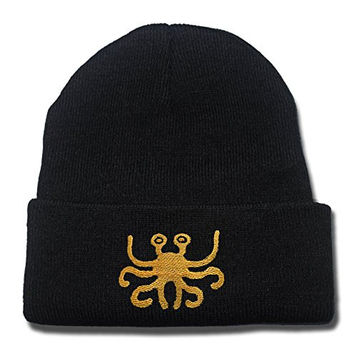 JIAQ Flying Spaghetti Monster Beanie Embroideryies Knitted Hats Caps