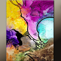 Abstract Art Prints Matted 11X14 Contemporary Wall Art by Destiny Womack - dWo - The Muses