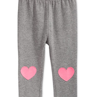 First Impressions Baby Girls' Heathered Heart-Patch Leggings, Only at Macy's | macys.com